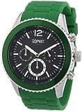 Esprit - ES105331007 - Montre Homme - Quartz Chronographe - Alarme/Chronomètre - Bracelet Résine Vert
