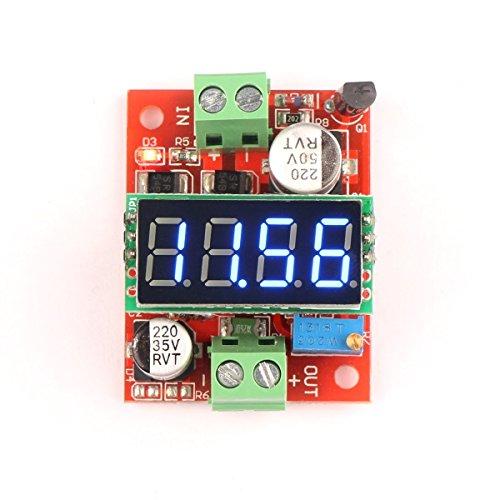 Riorand Lm2596 Dc-Dc Volt Converter 12V/24V 3A Adjustable Step-Down Power Supply Module 3.2-40V To 1.23-37V With 4-Digit Voltmeter Blue Led Display