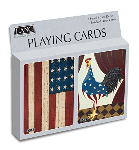 Lang Grand Old Flag Playing Cards by Warran Kimble (Set of 2)