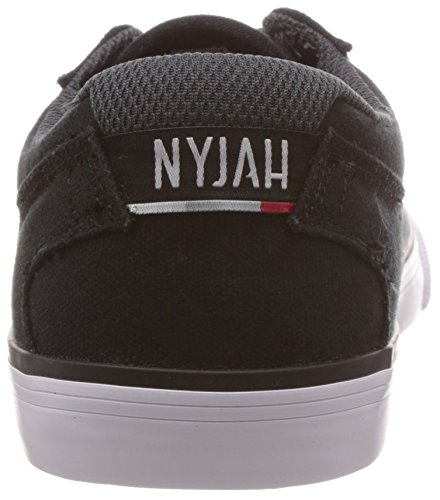 DC Men's Nyjah Vulc TX Nyjah Huston Signature Skate Shoe, Black/White, 13 M US