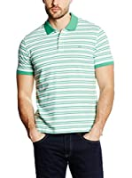 Pedro del Hierro Polo Light Weight (Verde / Blanco)