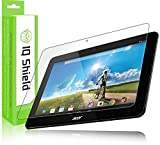 IQ Shield LiQuidSkin - Acer Iconia Tab 10 Screen Protector with Lifetime Replacement Warranty - High Definition (HD) Ultra Clear Smart Film - Premium Protective Screen Guard - Extremely Smooth / Self-Healing / Bubble-Free Shield - Kit comes in Frustration-Free Retail Packaging