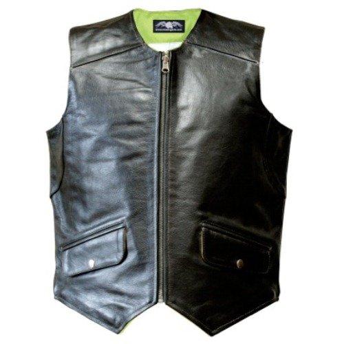 Missing Link Men'S D.O.C. Reversible Safety Vest (Black/Hiviz Green, Large) front-75374