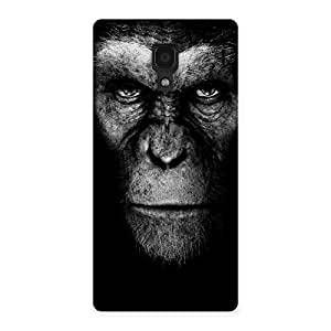 Cute Chimp King Black Back Case Cover for Redmi 1S