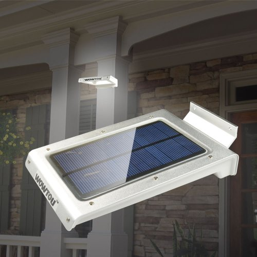 Wowtou(Tm) No Battery Required Waterproof Super Bright 46 Pcs Led Light Sources Wireless Solar Panel Powered Pir Induction Motion Sensor Detector Outdoor Home Security Garden Path Post Corner Solar Light With Unique Light-Conductive Panel Design