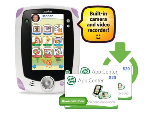 Leapfrog Leappad Explorer Learning Tablet with (2) $20.00 App Center Download Cards Bundle- Pink