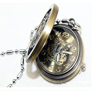 Vintage Hitmanreborn Logo Pocket Watch Quartz Pendent Necklace