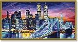 Schipper 609220369 - Malen nach Zahlen - Manhattan bei Nacht, 40x80 cm von Noris
