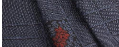 奄美大島紬織物協同組合 伝統工芸品 本場 奄美 大島紬 7マルキ総柄 XQ-11