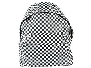 Rucksack Checkers schwarz/weiß kariert von Wanted