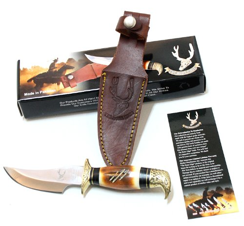 """8"""" Eagle Head Skinner Knife Bone Handle Hunting Knife Good Quality"""
