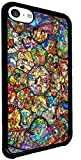 Disney All Characters Stained Glass Iphone 5c Hard Case Black