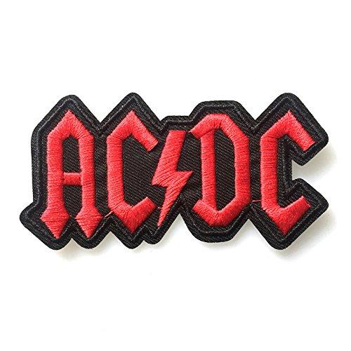 coolpart 10pcs/bag rigida ACDC Punk Rock Band buiter Artiglieria Badge Armbands giorno vestiti ricamato Patch per abbigliamento perfetto cerotti
