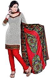 Swaman Women's Synthetic Salwar Suit Dress Material(0729LAD00015,Multicolor)
