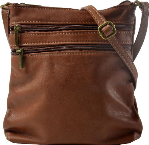 Gusti Genuine Leather Handbag Purse Shoulder Bag Satchel Vintage City Leisure Party Evening Bag Dark Brown Small H26A