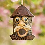 Bits and Pieces - Old Man Hanging Birdhouse - Decorative Yard Birdhouse - Lawn and Garden Décor