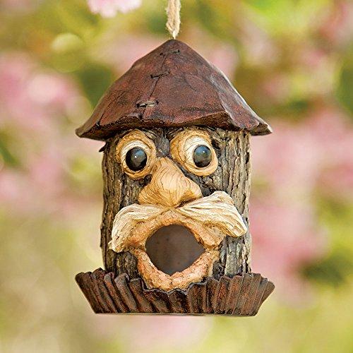 Old Man Hanging Birdhouse-Decorative Yard Birdhouse - Lawn and Garden Décor