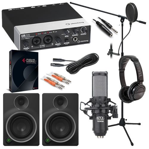 Steinberg Cubase Recording Pack Bundle W/ Studio Monitor Speakers