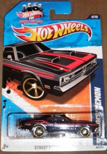 2011 Hot Wheels Street Beasts Black 4/10 '71 Dodge Demon 84/244