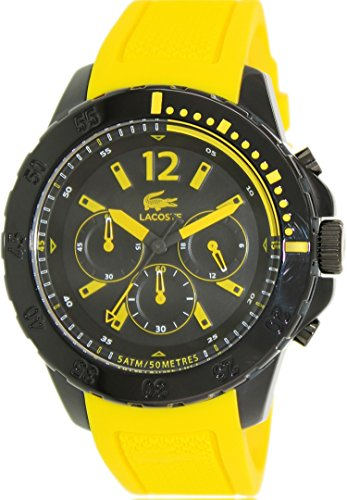 Lacoste Men's Fidji 2010739 Yellow Silicone Analog Quartz Watch