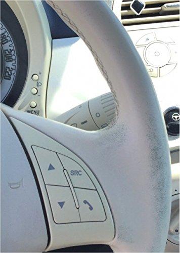 Colourcare24-Kit-ritocco-usura-vernice-Volante-Fiat-Bianco-Avorio-in-Pelle-eco-pelle-similpelle-per-Fiat-ripristina-colore-sterzo-codice-tonalit-Beige-Avorio-opaco-satinato-per-Fiat-Ivory-Beige-da-30-