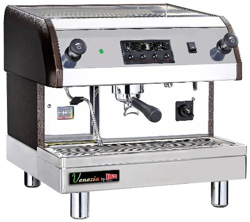 Grindmaster-Cecilware ESP1-220V Venezia II Espresso Brewing Machine, Black/Grey/Stainless Steel