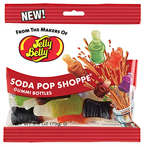 Jelly Belly Soda Pop Shoppe Gummi Candy - Jelly Belly Jelly Bean Company - 2.6 Oz Retail Bag Gummy Candy