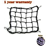 "STREAMLED Super Strong Stretch Heavy-duty 15"" Cargo Net for Motorcycle ATV - Stretches to 45"" with Iron Hooks"