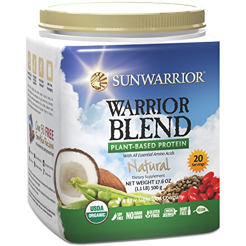 Sunwarrior - Warrior Blend, Raw, Plant-Based Protein, Natural, 20 Servings (1.1 lbs) (FFP) (Sunwarrior Protein Natural compare prices)
