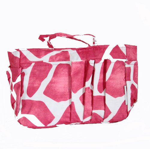 The Plaid Purse Bag Organizer – Fuchsia Giraffe Print