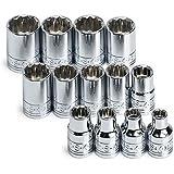 SK 89023 13 Piece 3/8-Inch Drive 12 Point 7-Millimeter to 19-Millimeter Socket Set