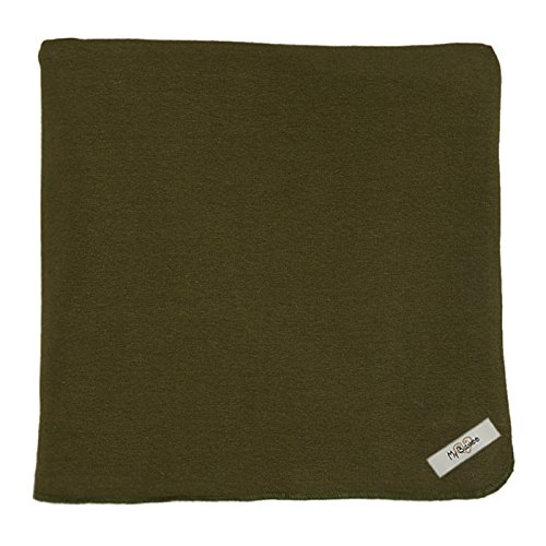 "My Blankee Organic Cotton  Jersey Knit Swaddle Baby Blanket, 47"" X 47"", Olive Green"