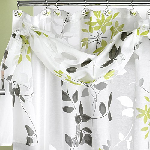 Popular Bath Mayan Shower Curtain, Leaf Sage (Grey And Green Shower Curtain compare prices)