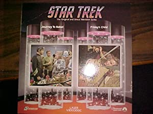 Laserdisc of Star Trek The Original Series 2 Uncut Episodes, Journey to Babel & Friday's Child, Episodes 44 & 32.