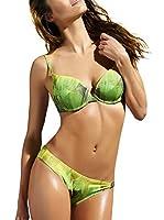 Esotiq Sujetador de Bikini Bafina (Amarillo / Verde)