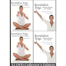 Kundalini Yoga: A Journey Through the 7 Mantras and 7 Chakras with Maya Fiennes - 12 DVD Collection