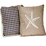 Set of 2 Assorted Beach Linen Throw Pillows