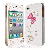 JAMMYLIZARD Cute Bow Series White / Pink Full Body Case Cover for Apple iPhone 4 & 4Sby JAMMYLIZARD