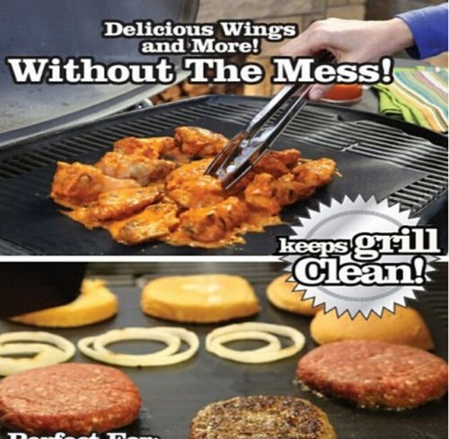 Yoshi grill bake nonstick bbq mats pack easy grilling