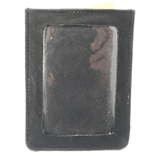 Super Soft Real Leather Bus / Train Pass / Id / Oyster / Travel Card Holder - Black Leather