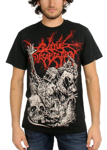 Cattle Decapitation Mens Alone alla discarica-Maglietta, colore: nero nero Medium