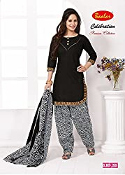 Taos Brand cotton dress materials for women womens dress materials cotton salwar suit New Arrival latest 2016 womens party wear Unstitched dress materials for women (210 summer__multicolour and black_freesize