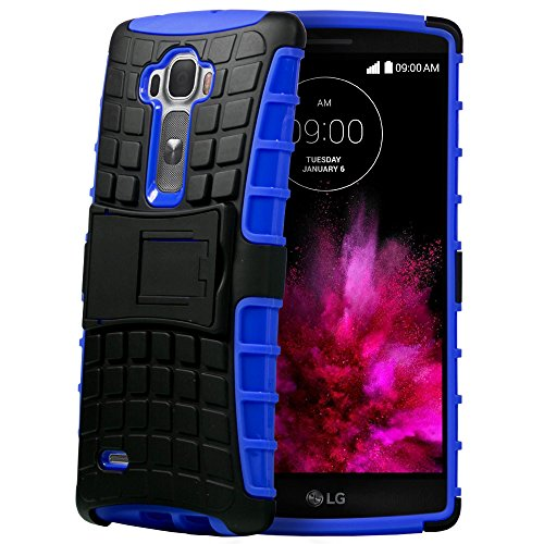 Fosmon [RUGGED] LG G Flex 2 Case - HYBO-RAGGED Heavy Duty Hybrid Protective Cover with Kickstand (Blue)