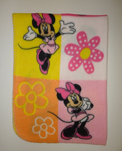 Disney Minnie Mouse Fleece Printed Baby Blanket, Pink - 1