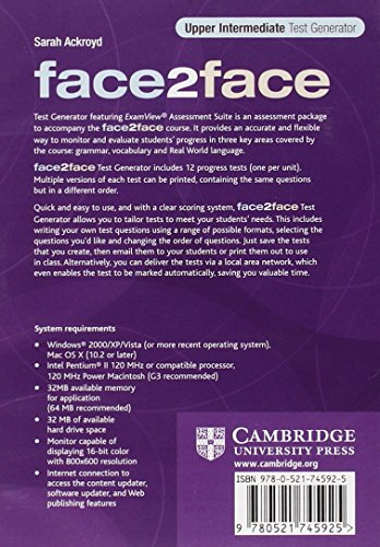 face2face Upper Intermediate Test Generator CD-ROM