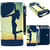 Universal Wallet Case, vogue shop Eiffel Tower Pattern Premium PU Synthetic Leather Wallet Flip Protective Skin Case [Wallet S] [Black] Stand All-around TPU Inner Case Cover Skin and Built-in Credit Card/ID Card Slot fit for Apple iPhone 6 4.7