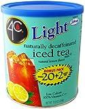 4C Light Powdered Ice Tea Mix with Splenda 13.9oz - Makes 22 Quarts - Choice of 4 Flavors (Decaffenated Ice tea)