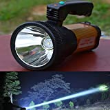 Odear® Super Bright Outdoor Handheld Portable USB Rechargeable Flashlight Torch Searchlight Multi-function Long Shots Lamp (Golden)