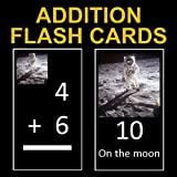 Far Out Addition Flash Cards 1-12 (Decorated with Shuttle, Astronaut, and Satellite Photos)