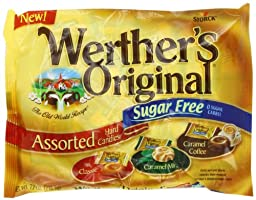 Werthers Original Assorted Candy, Sugar Free, 7.7-Ounce (Pack of 4)